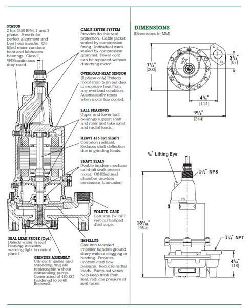 Item # WGL20-21, Myers® WGL20 Series 2 HP Grinder Pumps On Rapid Pump &  Meter/ Machinery Services Corp.   Myers Grinder Pump Wiring Diagram      All Products - Machinery Services Corp.