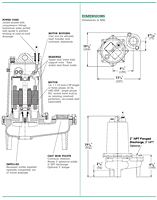 Dimensions (Myers® WHR5H - WHR20H 2 in. Solids Handling Sewage Pumps and Effluent Pumps)